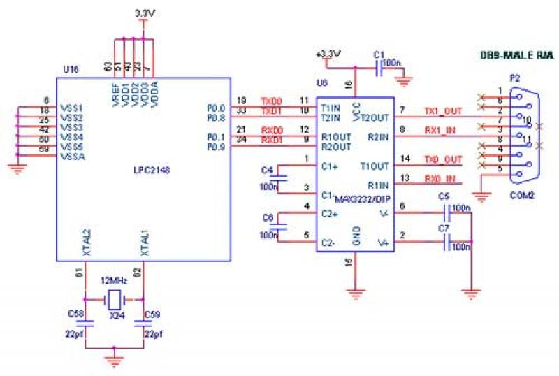 Interface Bluetooth with LPC2148 circuit