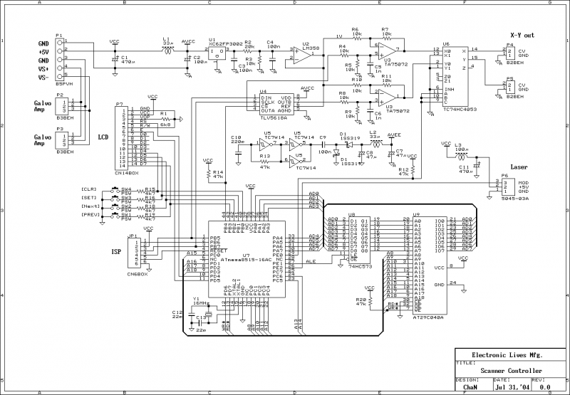 Home Built Laser Projector - schematic