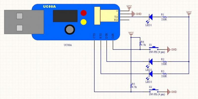 USB to serial converter circuit