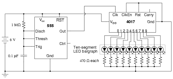 LED sequencer - schematic