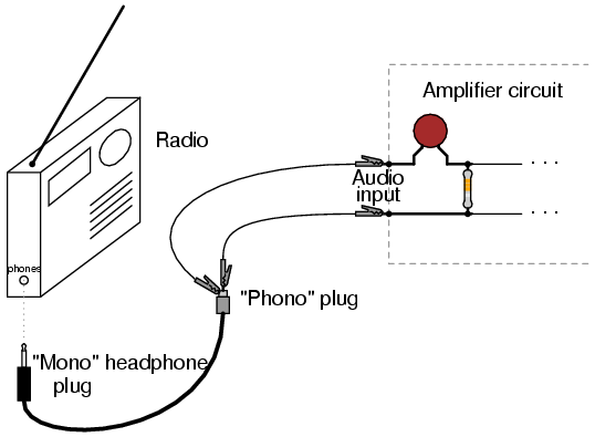 class b audio amplifier - schematic