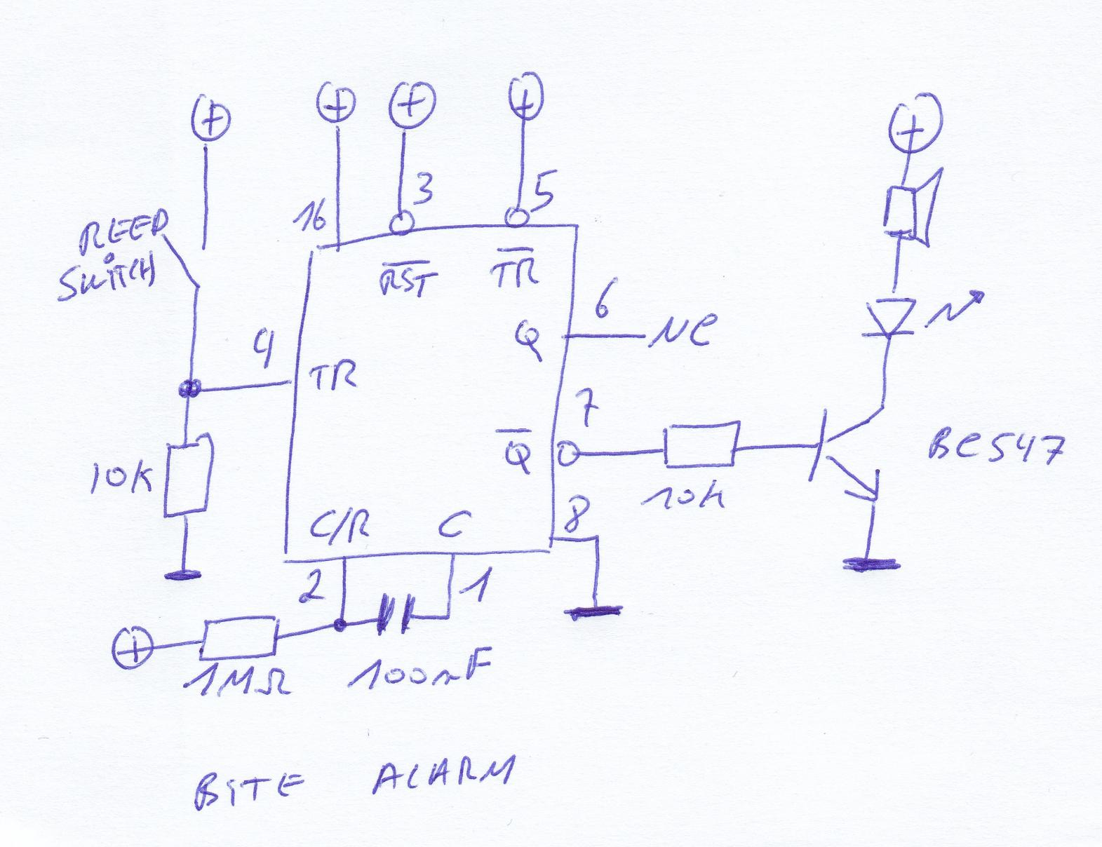 buzzer only beep once - schematic