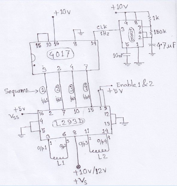 can rotate stepper motor - schematic