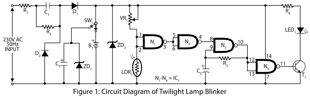 Twilight Lamp Blinker LDR project
