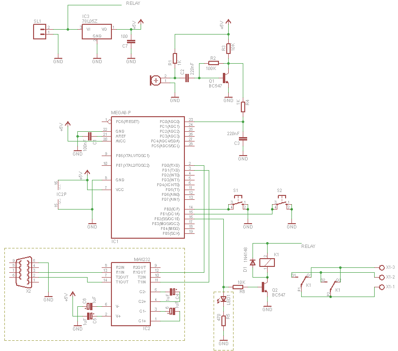 PIR Motion Sensor - schematic