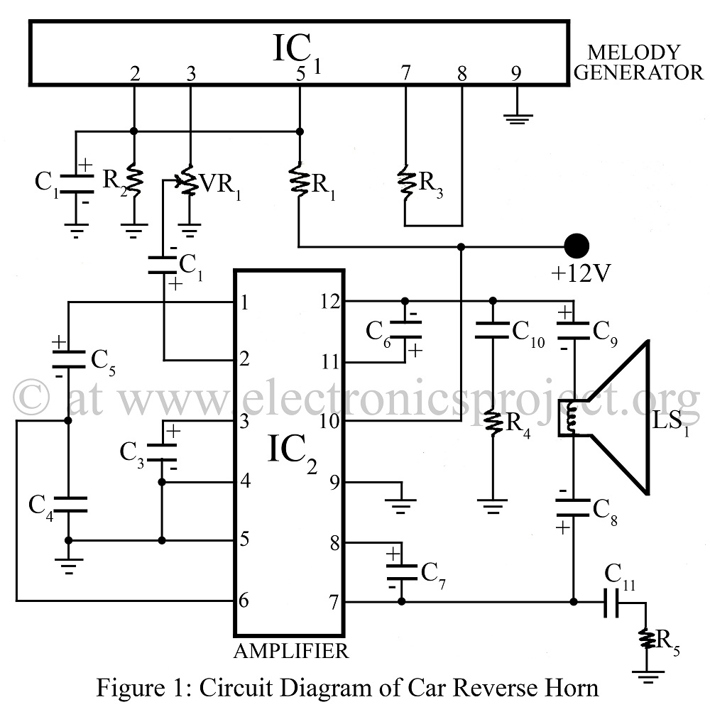 Wiring Diagram Of Horn : Car reverse horn repository next gr