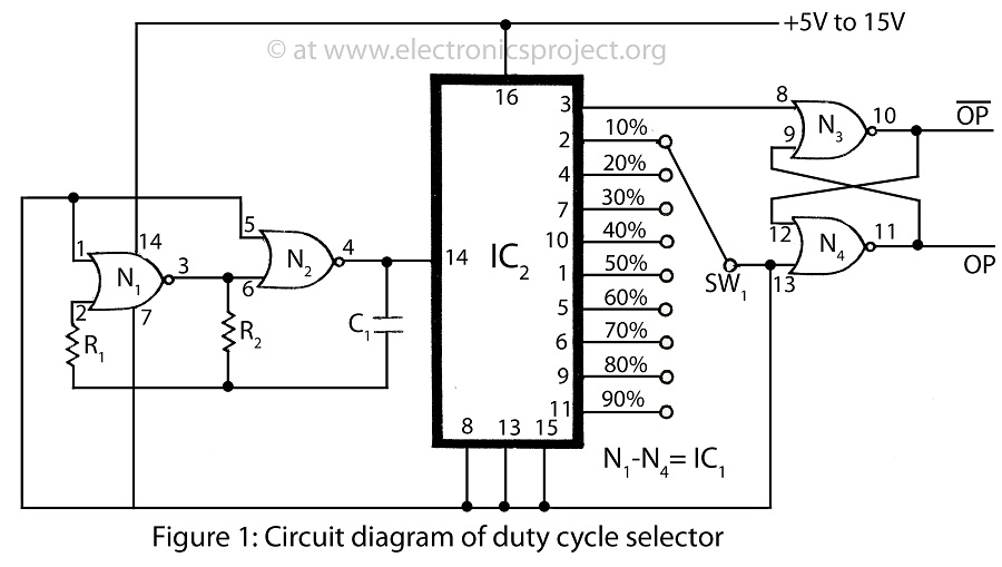 Duty Cycle Selector - schematic