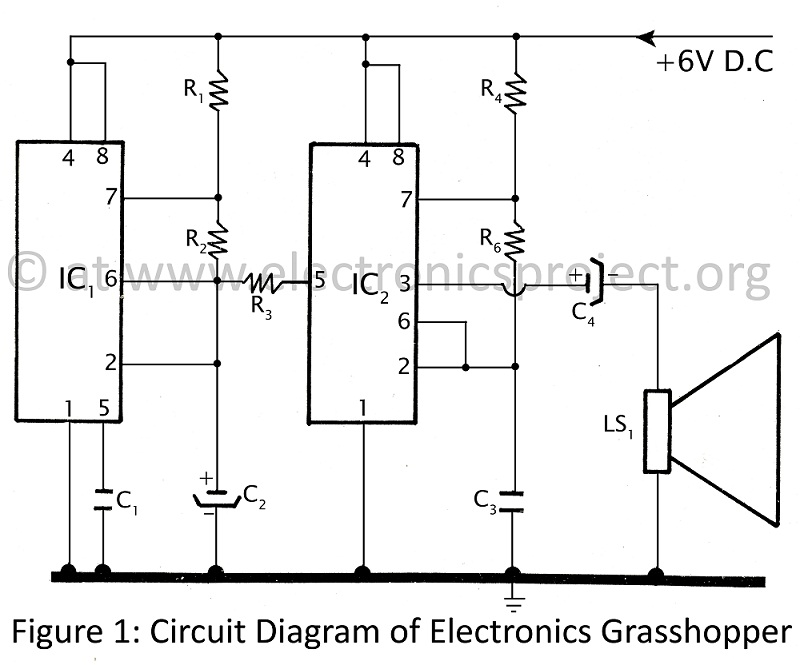 free electronic circuits project diagram and schematics, Circuit diagram