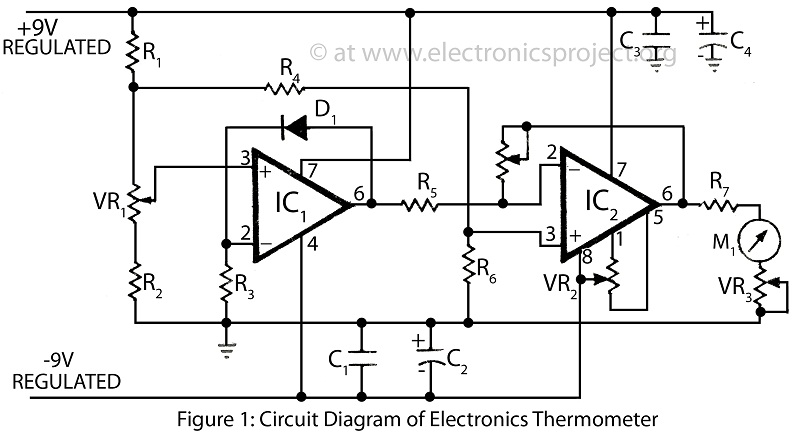 thermometer circuit page 4   meter counter circuits    next gr