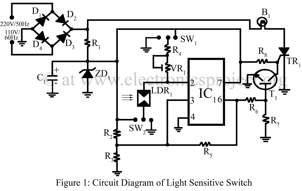 light sensitive switch