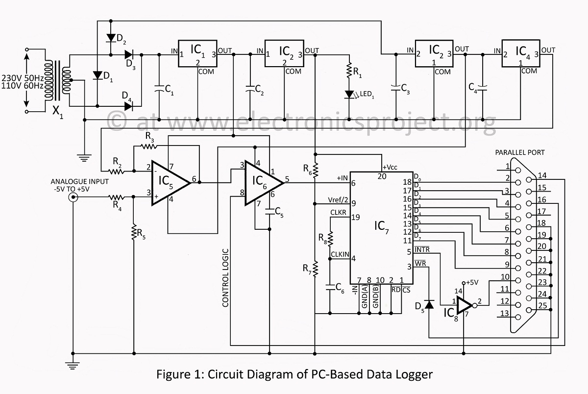 u0026gt  circuits  u0026gt  pc based data logger circuit description with