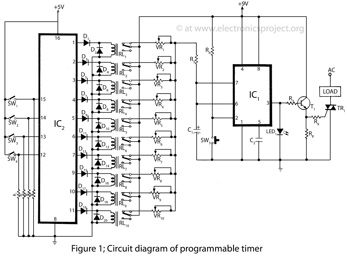 timer circuit diagram ireleast info timer switch circuit diagram the wiring diagram wiring circuit
