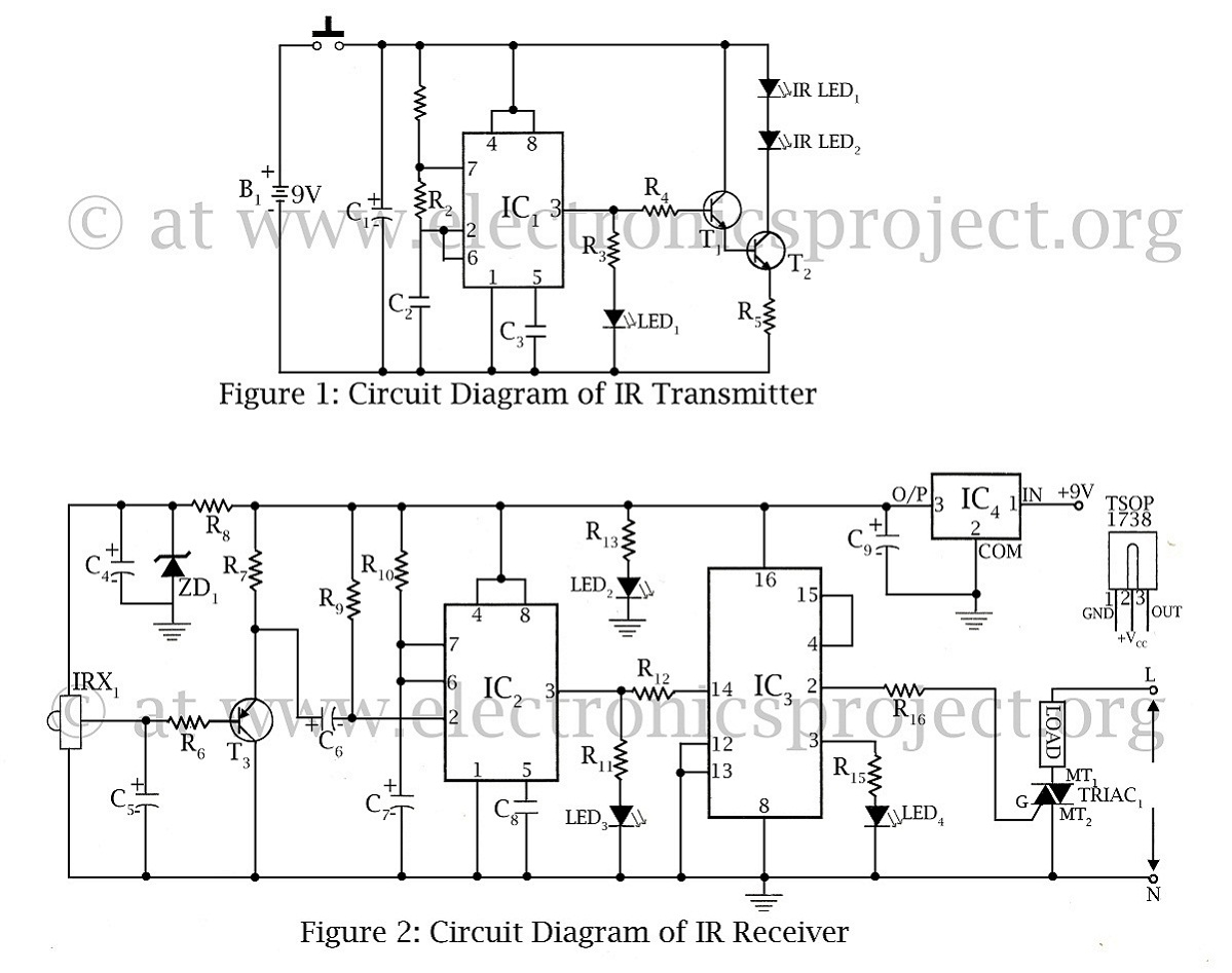 infrared circuit page 5 light laser led circuits next grinfrared remote control