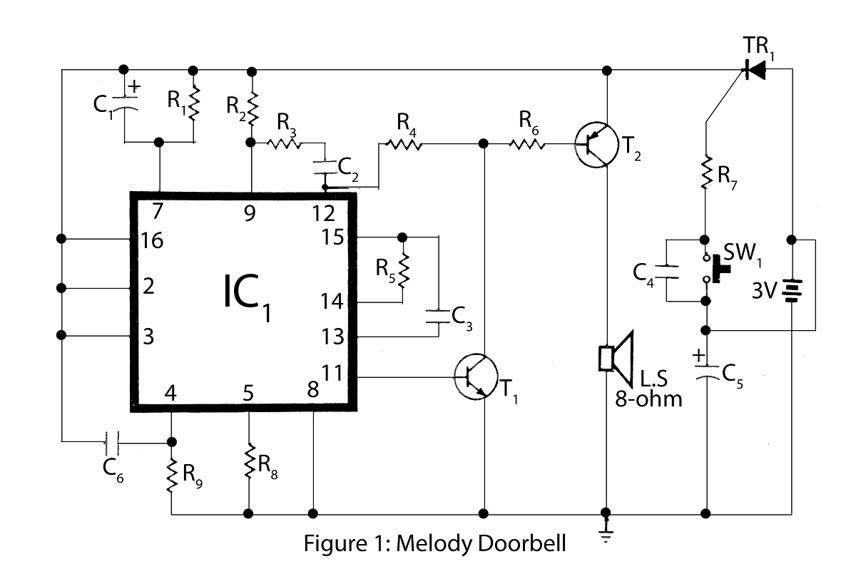 Advanced Melody Doorbell - schematic