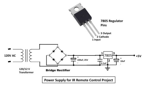 infrared toggle switch for home - schematic