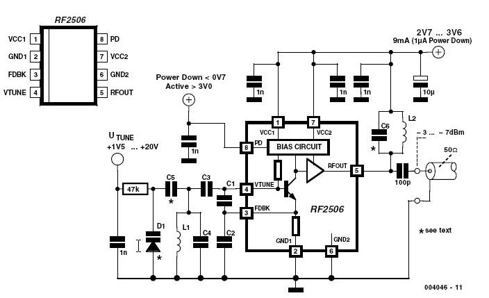 10 MHz to 1 GHz Oscillator