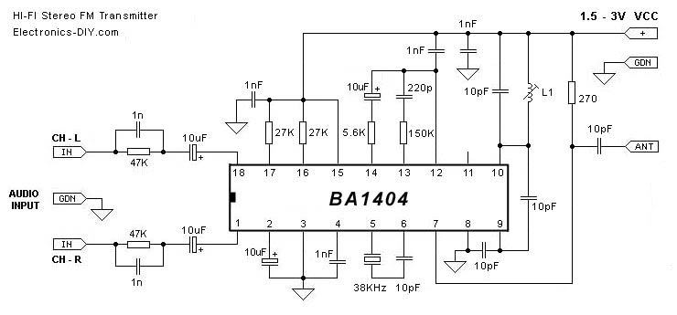 FM Transmitter Circuits - Best Of - schematic