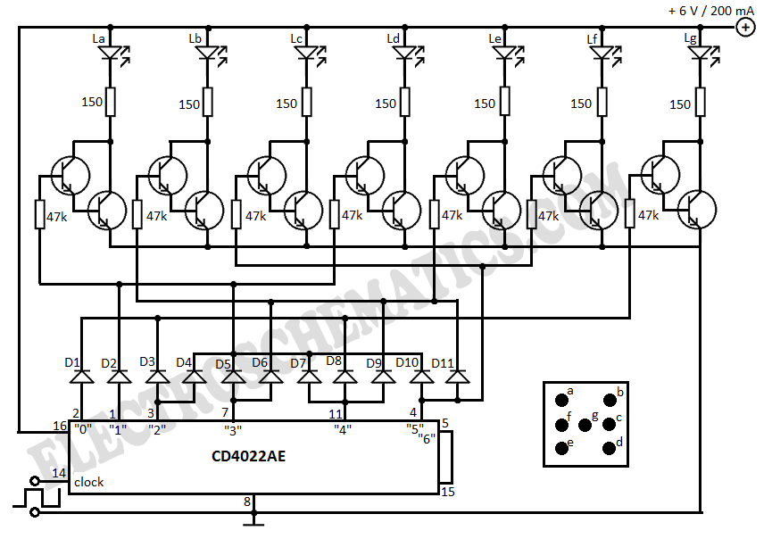 Electronic Dice Circuit L42764 on parallel resistance arduino