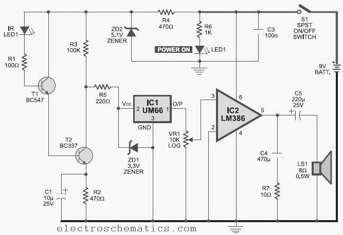infrared circuit page 7 light laser led circuits next grir infrared detector circuit