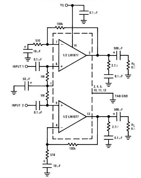 la4440 stereo amplifier circuit under repository-circuits