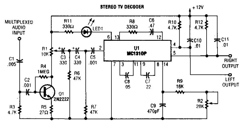 Stereo TV Decoder Circuit - schematic