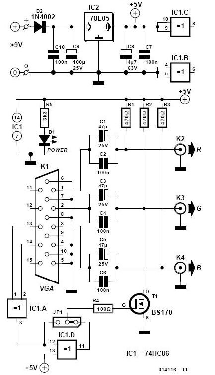 vga bnc adapter schematic circuits \u003e cga to scart adapter l42683 next gr scart to rca wiring diagram at nearapp.co