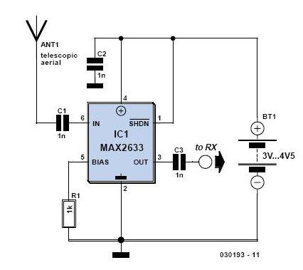 SW Receiver Preselector Circuit - schematic