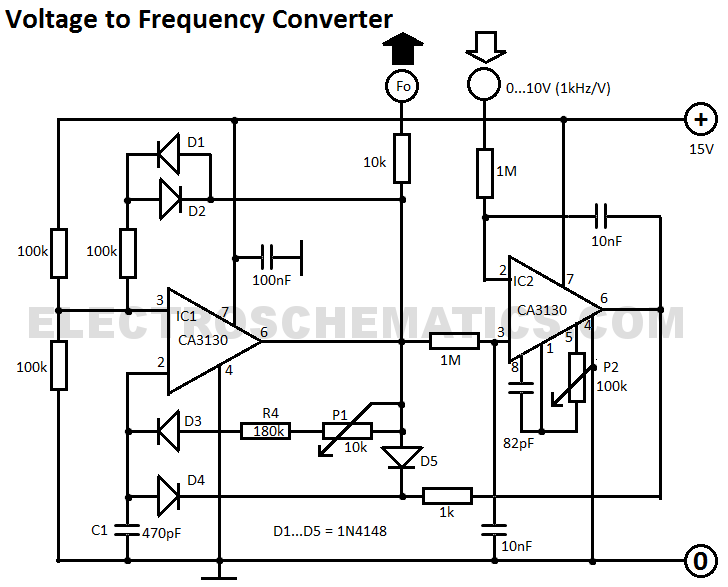 voltage to frequency circuits page 2   converter circuits