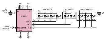 LTC3205 - Multidisplay LED Controller - schematic