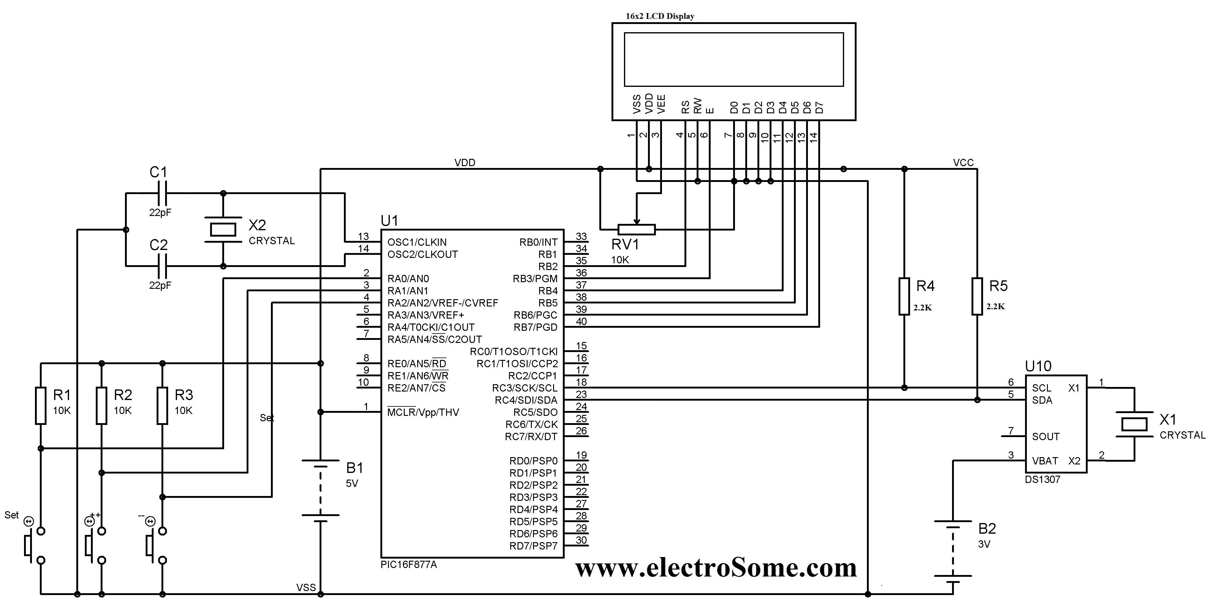 Circuit Diagram Quartz Clock Wiring Library Circuits Gt Plc L31001 Nextgr Digital Pic Microcontroller Ds1307