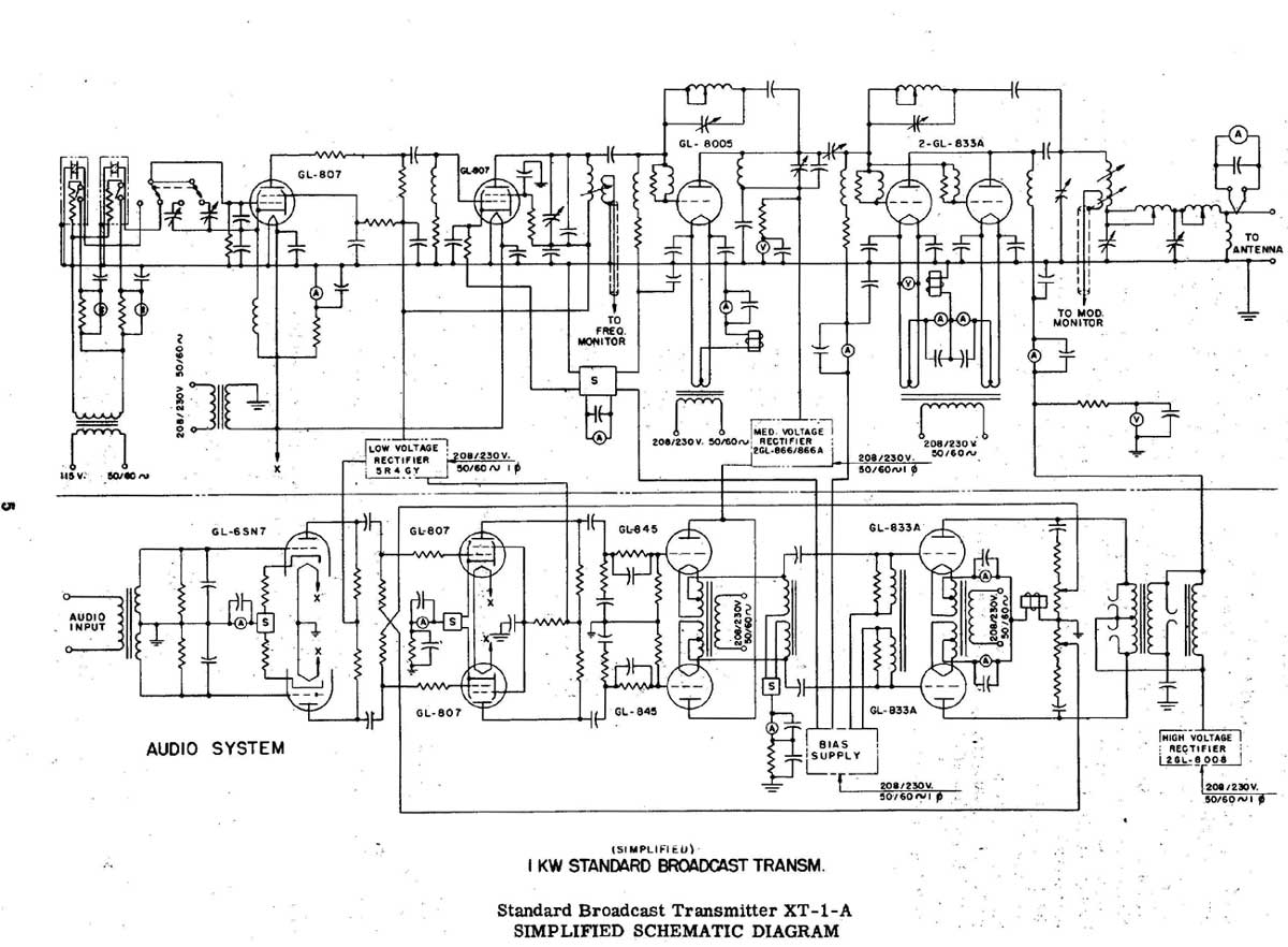 Am Radio Circuit Page 4 Rf Circuits Ge Motor Wiring Diagram In Addition General Electric The Xt 1 A Transmitter