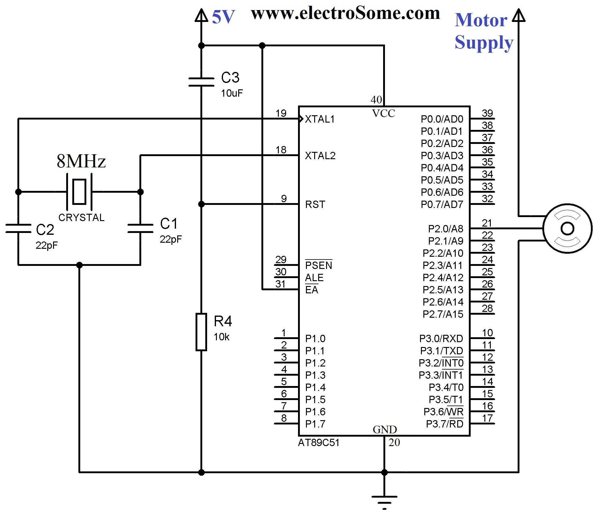 Servo Motor Circuit Page 3 Automation Circuits As Well Battery Monitor Diagram Furthermore Electric Interfacing With 8051 Using Keil C