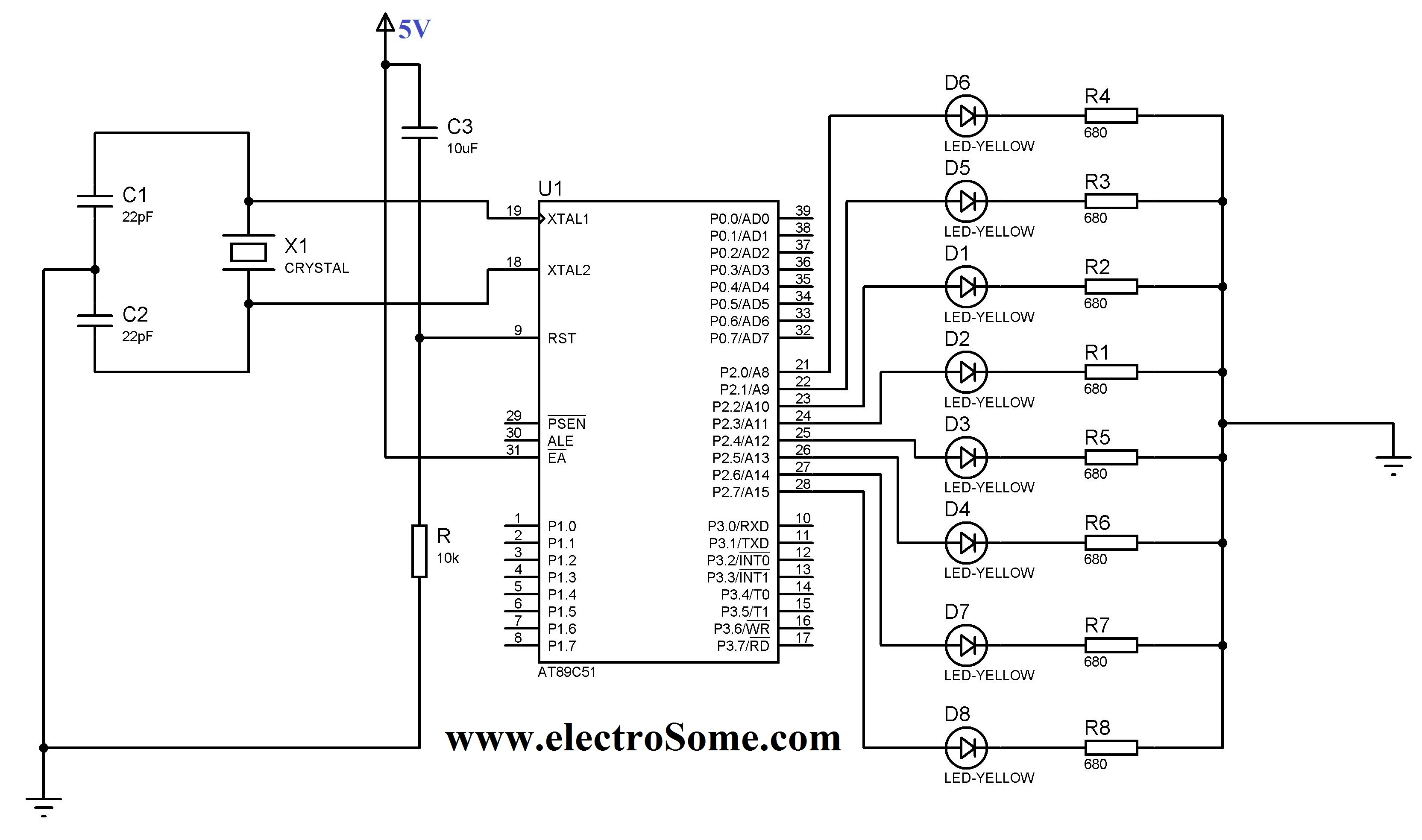 Results Page 195 About Am Searching Circuits At Blinking Led Circuit With Schematics And Explanation 8051 Microcontroller Keil C Tutorial At89c51