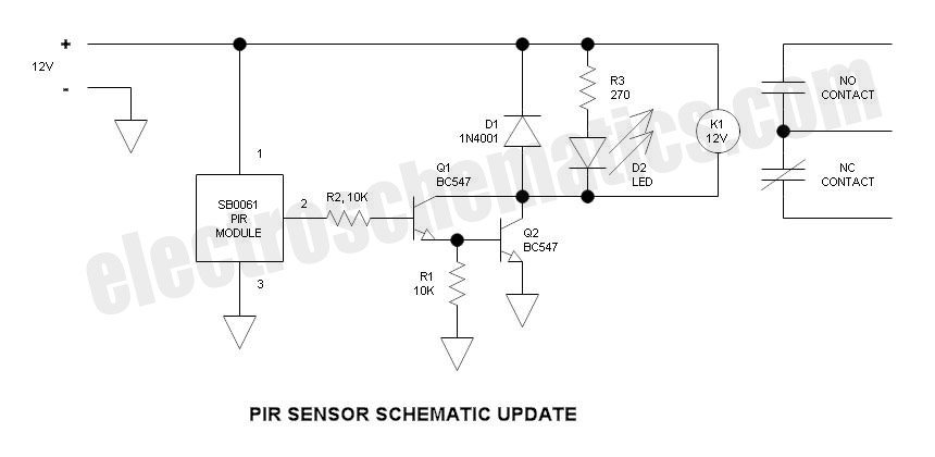 Security Light & Switch with PIR Sensor Update - schematic