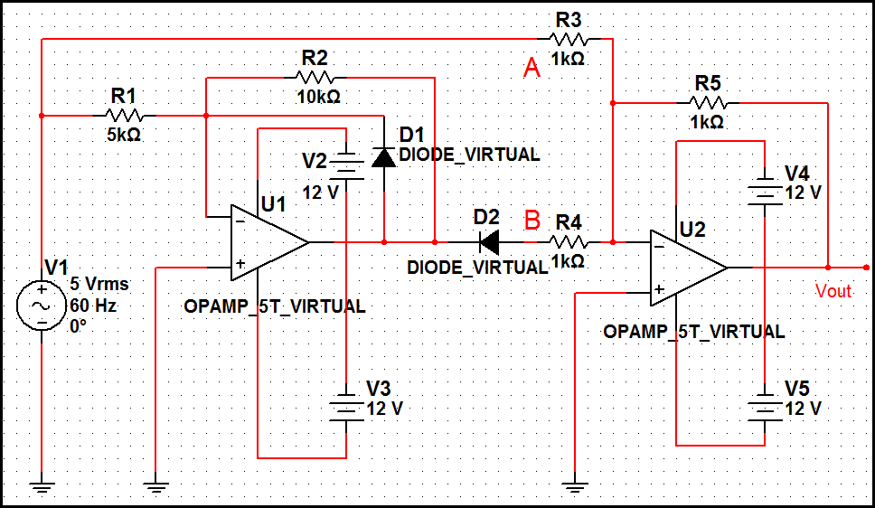 Sine to rectangular wave conversion circuit - schematic