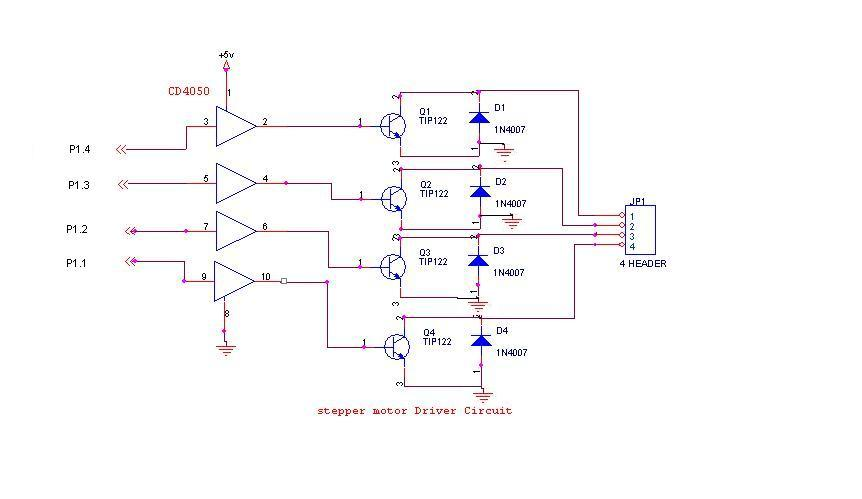 Circuits Stepper Motor Controller Schematic L43460