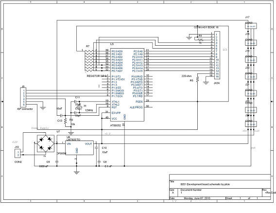 DTMF Based Robo Car Design & Circuit using 8051 Microcontroller - schematic