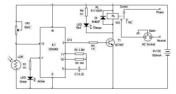 Timer for Charger - schematic