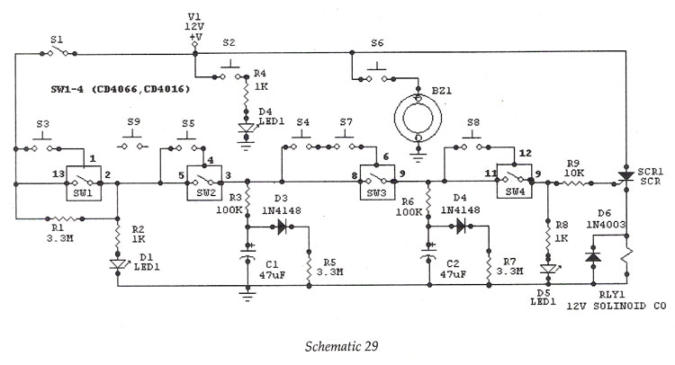 Electronic Lock - schematic