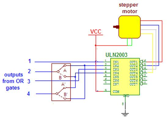 wireless stepper motor control using laser and ic555 repository rh next gr 555 Timer Relay Circuit 555 Timer Tutorial