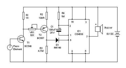 Vibration SensorCircuit Sensor - schematic