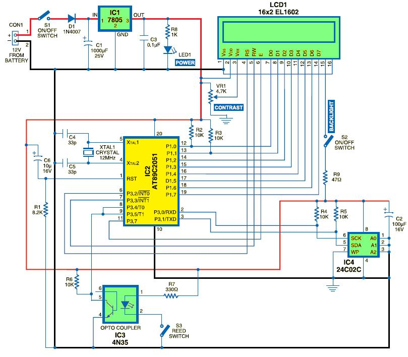 digital speedometer circuit