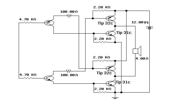 Car alarm circuit - schematic