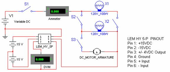Current Sensor Testing and calibration - schematic