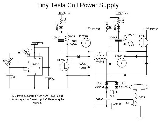 tesla coil circuit Page 3 : Power Supply Circuits :: Next.gr