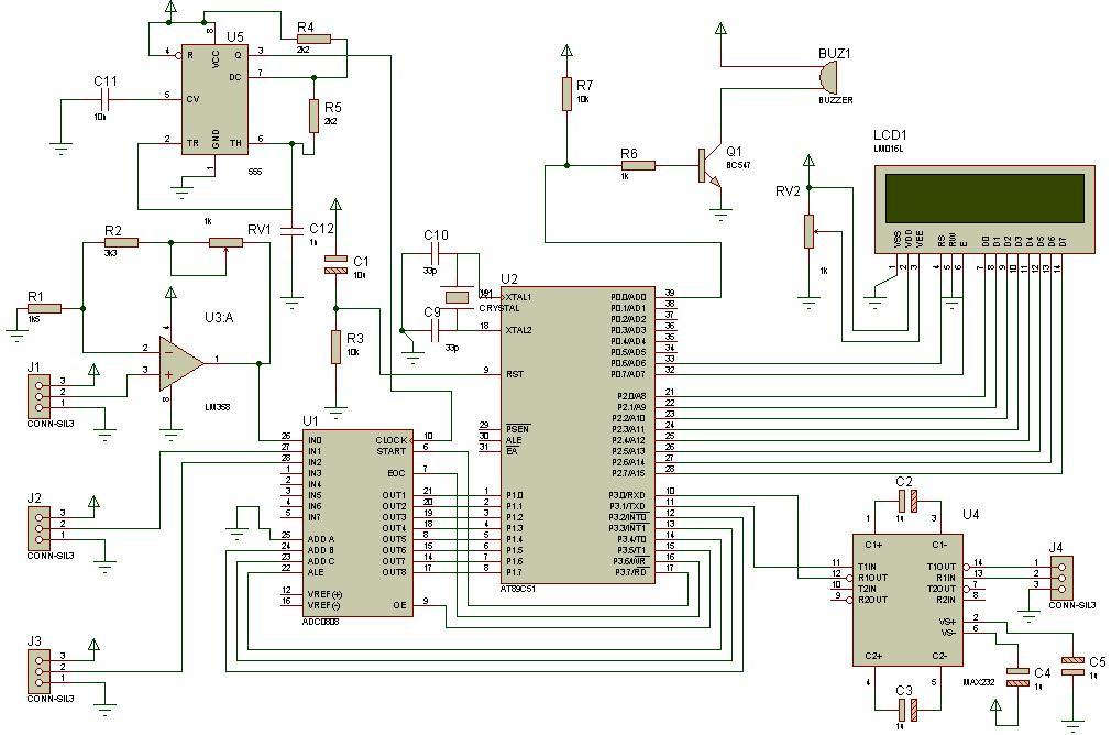 Program for the weather station circuit diagram - schematic