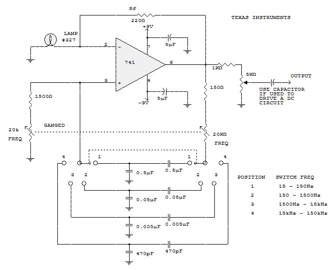 Audio Oscillator - schematic
