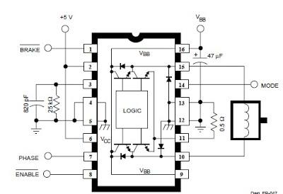 dc servo motor controller - schematic