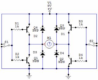 H bridge circuit - schematic