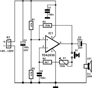 Power Buzzer - schematic